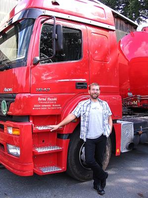Tanksattelauflieger, Bernd Huxohl, Transporte